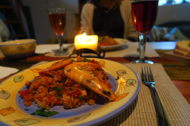 First Date Meal, Mussels, Paella, Proposal